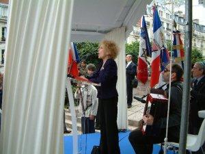 Début de la cérémonie : Chant des Marais par Talila et Mr LASRY